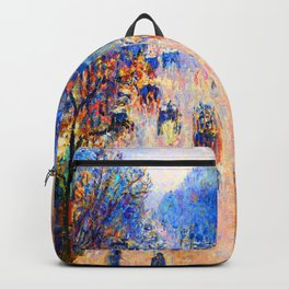 Camille Pissarro Boulevard Montmartre Winter Backpack