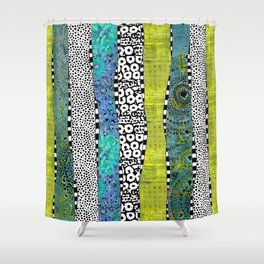 Happy Stripe Shower Curtain