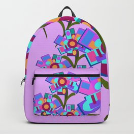Square Flowers Backpack