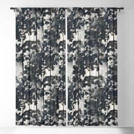 Leaf Shadows on Old Deck Blackout Curtain
