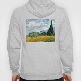 Wheat Field with Cypresses - Vincent van Gogh Hoody
