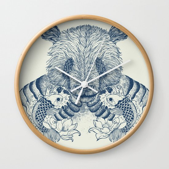 Panda Tattoo Wall Clock