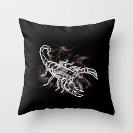 White Scorpion Stylish Scorpio Zodiac Throw Pillow