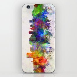 Richmond skyline in watercolor background iPhone Skin
