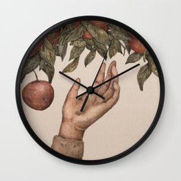 Apple Picking Wall Clock