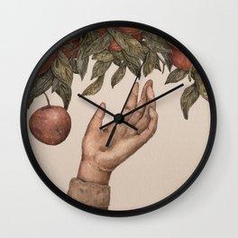 Apple Picking Wall Clock