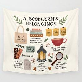 A Bookworm's Belongings Wall Tapestry