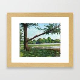 Prospect Park Lake Framed Art Print