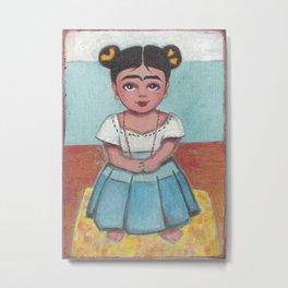 Little Frida Metal Print