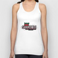 snatch Tank Tops featuring Snatch Double Cherry Cream Stout by Pen Island Brewing Company