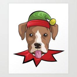 elfdog boxer Art Print