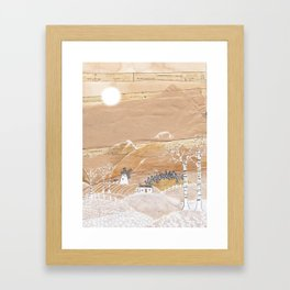 Snow morning Framed Art Print