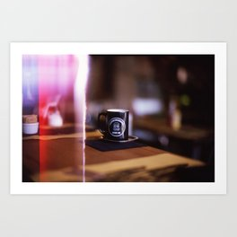 Cup of Coffee with a Light Leak Art Print