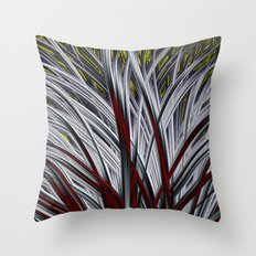 White Grass Throw Pillow