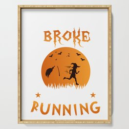 Halloween Shirt Gift for Runners Joggers Serving Tray