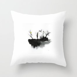Abstract work, watercolor, nature Throw Pillow