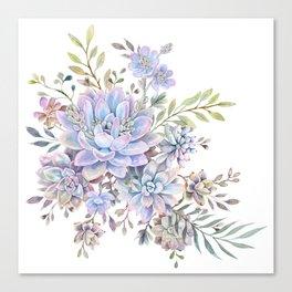 succulent watercolor 7 Canvas Print