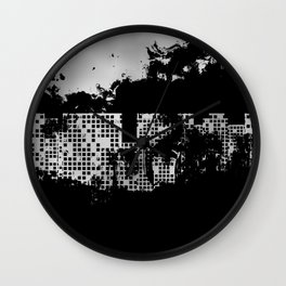 neft city Wall Clock