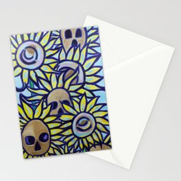 S is for Sunflowers and Skulls Stationery Cards