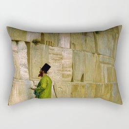 Jean-Leon Gerome - The Wailing Wall - Digital Remastered Edition Rectangular Pillow