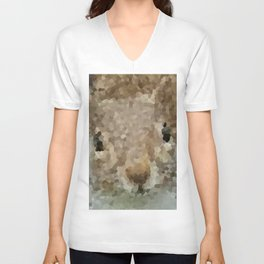The other faces of Squirrel 2 Unisex V-Neck