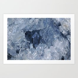 Blue Gemstone Art Print