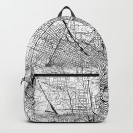 Vintage Map of Richmond Virginia (1934) BW Backpack