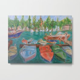 Henley on Thames Boats Metal Print