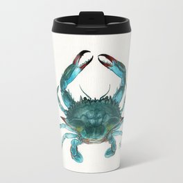 """Blue Crab"" by Amber Marine ~ Watercolor Painting, Illustration, (Copyright 2013) Travel Mug"