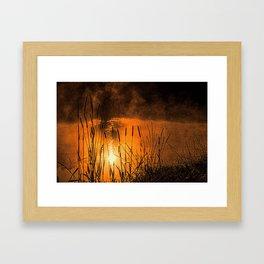 Sunrise at the lake /Sonnenaufgang am See Framed Art Print