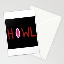 V Howler - black Stationery Cards