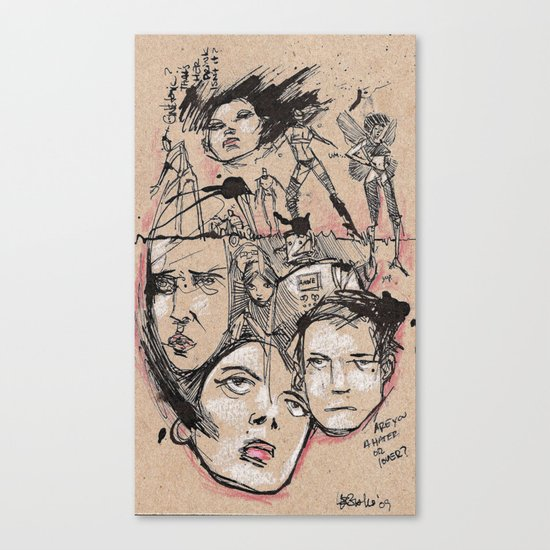 Hater Or Lover Canvas Print