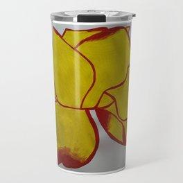 Handmade drawing of flower Travel Mug