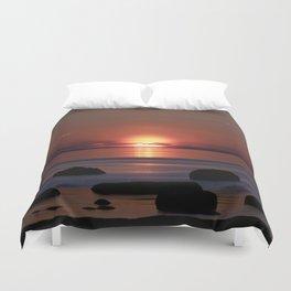 Shock-wave Sunset Duvet Cover