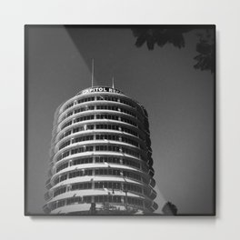 Capitol Records Building Metal Print