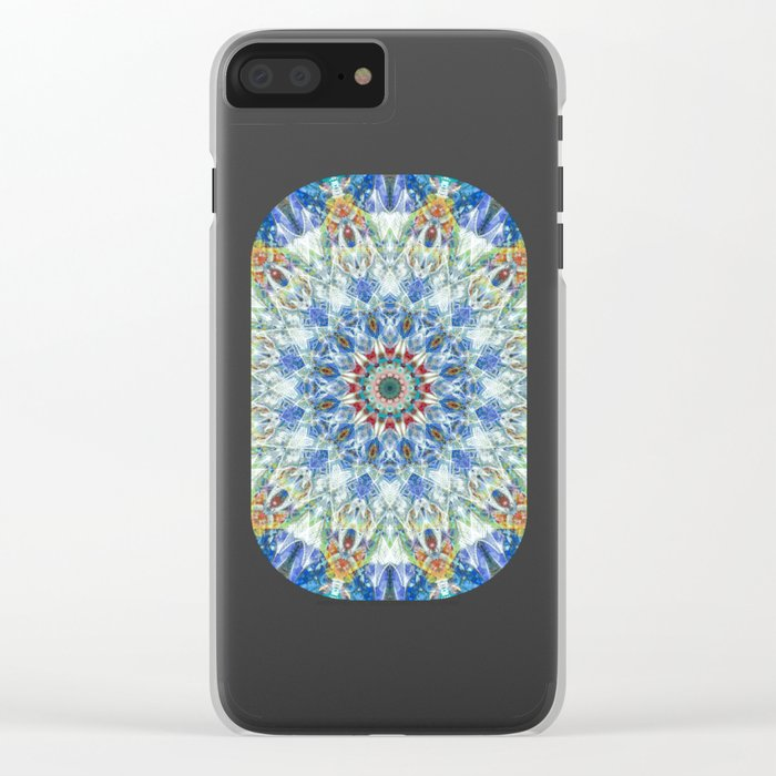 Kaleidoscope No. 3 - Blue Clear iPhone Case
