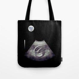 Alien on board - Ultrasound - badge variant Tote Bag