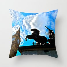 A Commoners View of Big Ben Throw Pillow