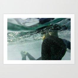 Wetsuit Underwater Art Print