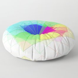 geometric abstract 2 Floor Pillow
