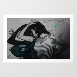intervention 11 Art Print