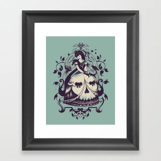 Mrs. Death Framed Art Print