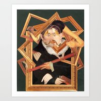frames Art Prints featuring frames by Karen Constance Collage and Paintings
