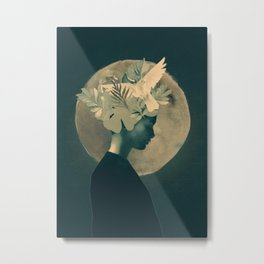 Moonlight Lady Metal Print