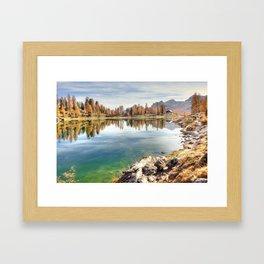 Lago Federal Lake Landscape Framed Art Print