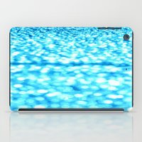 turquoise iPad Cases featuring Turquoise Glitter Sparkles by WhimsyRomance&Fun