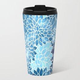 Space Dahlias Blue Ice Travel Mug