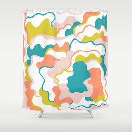 gemma, abstract pattern Shower Curtain