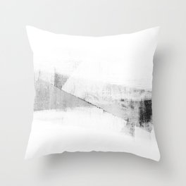 Grey and White Minimalist Geometric Abstract Throw Pillow