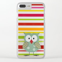 Colorful owl Clear iPhone Case